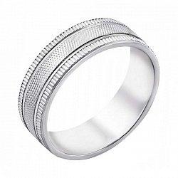 Серебряное обручальное кольцо 000043140