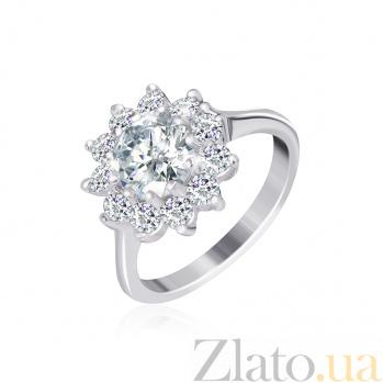 Серебряное кольцо с фианитами Мишель 000025529