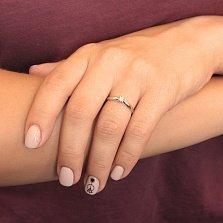 Помолвочное кольцо в белом золоте Юнита с бриллиантом