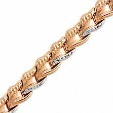 Золотой браслет Ровенна фантазийного плетения, 7мм