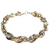 Золотой браслет Ивитор с массивными узорными звеньями