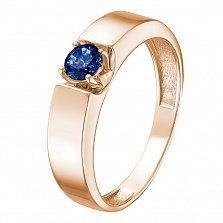 Кольцо в красном золоте Елена с сапфиром