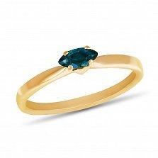 Золотое кольцо Ясмин с лондон топазом огранки маркиз