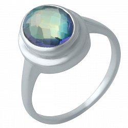 Серебряное кольцо с мистик топазом 000128218