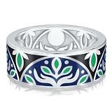 Мужское обручальное кольцо из белого золота Талисман: Веры