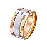 Золотое обручальное кольцо Комплимент в комбинированном цвете металла