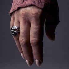 Кольцо из серебра Madcap с черепом и чернением