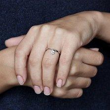 Кольцо из белого золота с подвеской Свобода