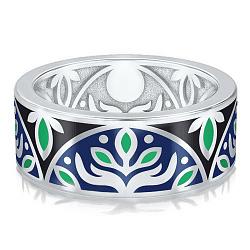 Мужское обручальное кольцо из белого золота Талисман: Веры 000009226