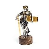 Серебряная статуэтка с позолотой Закон и порядок