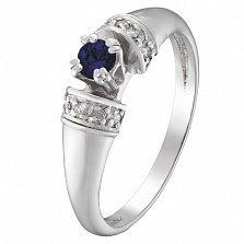 Золотое кольцо Оланта с сапфиром и бриллиантами