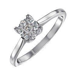 Помолвочное кольцо из белого золота с бриллиантами 000104397