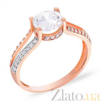 Золотое кольцо с фианитами Юстасия SUF--152535