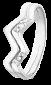 Кольцо из серебра с фианитами Молния 000025810