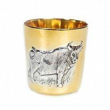 Серебряный стакан Бык