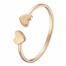 Кольцо Две половинки в желтом золоте