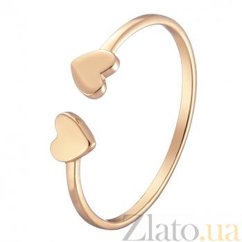 Кольцо Две половинки в желтом золоте 000051978