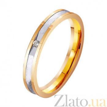 Золотое обручальное кольцо с фианитами Моя княжна TRF--412765