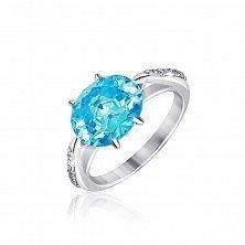 Серебряное кольцо Луизина с фианитами