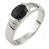 Серебряное кольцо Надира с сапфиром