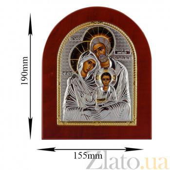 Икона Святое Семейство на деревянной основе, 15,5х19см 000061917