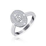 Серебряное кольцо Эвита с фианитами