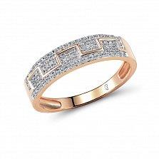Кольцо из красного золота Нора с бриллиантами