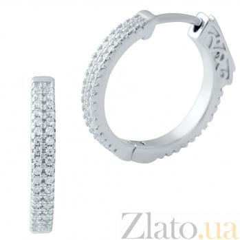 Серебряные серьги Эмилия с фианитами 000078052