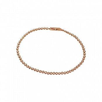 Браслет из красного золота с бриллиантами 000082061