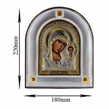 Икона Казанская Божья Матерь на деревянной основе, 18х22см