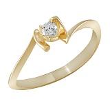 Кольцо из желтого золота Ассоль с бриллиантом