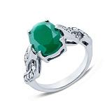 Серебряное кольцо с агатом Подснежник
