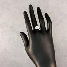 Серебряное кольцо Жанти с белыми ониксом и фианитами