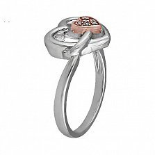 Золотое кольцо Биение сердца с бриллиантами
