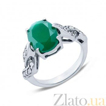 Серебряное кольцо с агатом Подснежник AQA--R01205Ag