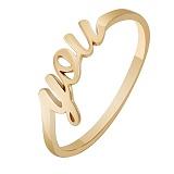 Золотое кольцо в красном цвете You