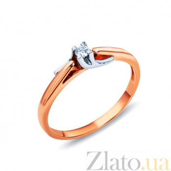 Золотое кольцо с бриллиантом Единственная AQA--КД416д