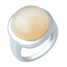 Серебряное кольцо Габриела с кошачьим глазом