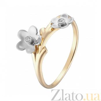 Кольцо в желтом и белом золоте Торения с фианитами 000044944