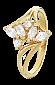 Позолоченное серебряное кольцо Виллемина 000025666