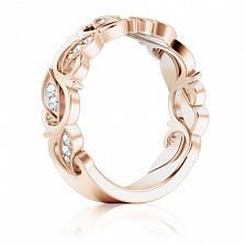 Кольцо обручальное в розовом золоте Долина грез: Триумф нежности