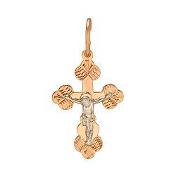 Золотой крестик Заповедь любви 000046360
