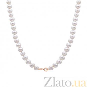 Жемчужное ожерелье с золотым замком Эдит Пиаф SG--7874000048001/сред
