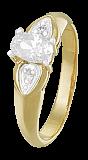 Позолоченное серебрянное кольцо с фианитами Лили
