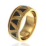 Обручальное кольцо Музыка сердец с эмалью