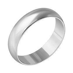Обручальное кольцо Стиль и классика из белого золота