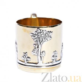 Серебряная чашка с позолотой Античная 390