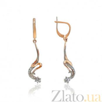 Золотые серьги-подвески Алварес EDM--С0230