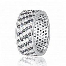 Серебряное кольцо с фианитами Ксена