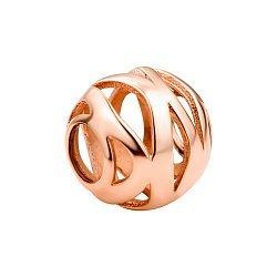 Золотой кулон в красном цвете в форме шара 000117046